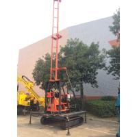 Wholesale Crawler Mounted Hydraulic Drilling Machine With Hydralic Winch , Mud Pump With 200m Drilling from china suppliers