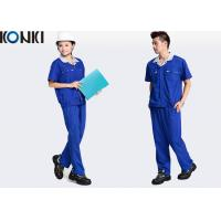 Quality Blue Wear Work Trousers Custom Comfortable Work Uniform For Electrician / Worker for sale
