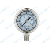 Wholesale Shockproof industrial pressure gauges with bayonet bezel , 2 inch bottom from china suppliers