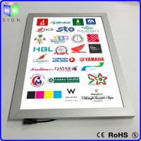 Wholesale Advertisement LED Slimline Light Box Snap Frame Wall Mounted 3D Laser Engraving from china suppliers