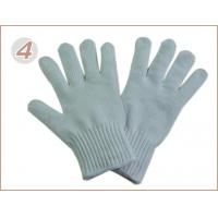 Wholesale Lightweight 7G Knitted Seamless Dyneema Mixed Steel Yarn White Cut Resistant Glove from china suppliers