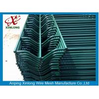 Wholesale Pattern Farm Electric Fence / Iron 3D Curved Wire Mesh Fence Dark Green from china suppliers