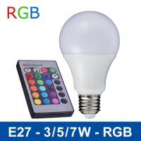 Wholesale NEW 110V/220V Remote Control 16 Color Change Lampada E27 3W/5W/7W LED RGB Bulb Light from china suppliers