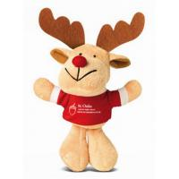 Wholesale Fashion Small Reindeer Stuffed Plush Toy Keychain For Christmas Promotion from china suppliers