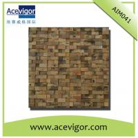 Wholesale Mosaic decoration in rustic antique wood for indoor wall from china suppliers