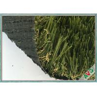 Quality High Wear Resistance Garden / Landscaping Artificial Turf With Green Color for sale