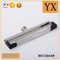 Wholesale 120mm Bright Nickel plating Metal Clipboard Clips With Metal Hanger and Rubber Corner from china suppliers
