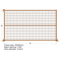 "Wholesale 6FT X 9FT ""Montreal"" TEMPORARY FENCE Tubing 25mm x 1.2mm Mesh 2""x4"" Diameter 8ga wire/4.00mm powder coated Orange from china suppliers"