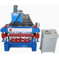 China Double Deck Roofing Sheet Roll Forming Machine PLC Control Easy Operation on sale