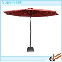Wholesale Garden Decorative Heavy Duty Crank 10FT Patio Umbrellas With Solar Lights from china suppliers