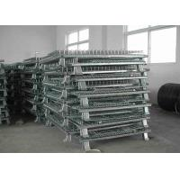 Wholesale Foldable Collapsible Wire Mesh Cage Panels With Front Drop Gate / 4 Casters from china suppliers