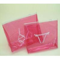 Wholesale Red Small Clear PVC Bags With Zip Lock For Makeup Product from china suppliers
