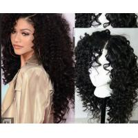 Wholesale Brazilian Curly Swiss Human Hair Full Lace Wigs For Black Women With Baby Hair from china suppliers
