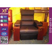 Wholesale Modern Genuine Leather Finished Home Theater Sofa , Leisure Electric Recliner Sofa from china suppliers