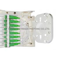 Quality Fiber Optic Termination Box With Splitter 1X8 PLC And 8 Coupler SC/APC Auto Shutter Type for sale