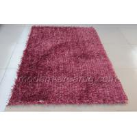 Wholesale Magenta Polyester Shaggy Pile Rug, Modern Shaggy Rugs, Hand-tufted Decorative Area Carpet from china suppliers