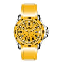 Wholesale Yellow Silicone Rubber Wristband Watch Men Stainless Steel Analog Dial from china suppliers