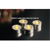Wholesale Small Battery Operated LED Tealight Candles Wholesale with Aluminum Holder 3.8 X 3.2cm from china suppliers