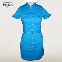 China New design pictures office straight blue dress fashion women clothing bulk wholesale dresses for ladies on sale