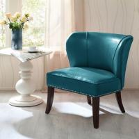 Wholesale Overstuffed Upholstered Accent Chairs , Leather Accent Lounge Chair With Armless from china suppliers