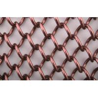 Wholesale square Copper Chain Link Wire Mesh hot dipped wire netting with 3mm-10mm hole from china suppliers