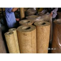 Wholesale Light Weight Rockwool Pipe Insulation For Hot / Cold Pipe Lines from china suppliers
