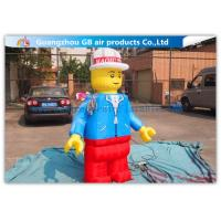Wholesale Nylon Inflatable Cartoon Characters , Inflatable Lego Model With Beautiful And Long Durability from china suppliers