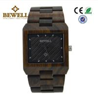 Quality CE Listed Customized Handmade Wood Watches With Mineral Glass , 2 Years Battery Life for sale