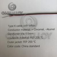 Wholesale Type K  thermocouple cable teflon insulated and FEP 200degree jacket from china suppliers