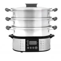 Wholesale High Power Auto off 7 programmes External water 11L Digital Stainless Steel Steam Cooker XJ-11103 from china suppliers