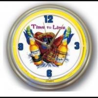 Wholesale Professional Contemporary Round Neon Wall Clock For Bars CE / ROHS from china suppliers