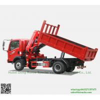 Quality Custermizing  4x2  tipper truck with SQ80ZB2(3.2T) at 2 m Knuckle Boom Truck Mounted Crane sale App:8615271357675 for sale