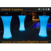 Wholesale Glowing Bar Standing Cocktail Tables Wedding With Remote Controller , 16 Colors Changed from china suppliers