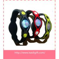 Wholesale Power Silicone Balance Bracelet silicon wrist strap from china suppliers