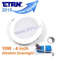 Wholesale 4 inch 10W Dimmable LED Downlights Super Thin Ceiling Lights Recessed lights office lights from china suppliers