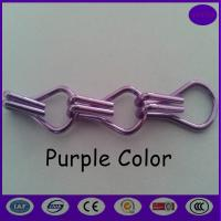 Wholesale Purple color Fashionable Decorative Aluminium Double Hooks Chain Fly Screen Curtain from china suppliers