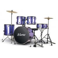 Quality 5 Piece Acoustic Percussion Adult Drum Set With cymbal and throne A525P-901 for sale