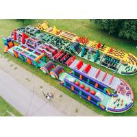 Wholesale Outdoor Boot Camp Inflatable Obstacle Challenges / Giant Inflatable Obstacle Course from china suppliers