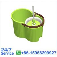 Green Stainless Steel Pole W/3 Section Wooden Floor Cleaning Mops - BN5007