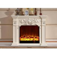 Wholesale Polished Resin HDF European Electric Fireplace 750w 1500w Power from china suppliers