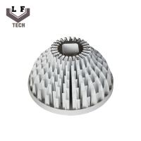 Wholesale Aluminum 6063-T5 White Painting Turning Milling Sun Flower Extrusion Led Heat Sink from china suppliers