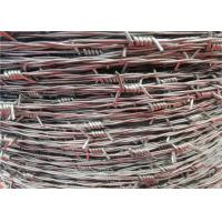 Wholesale 15 Gauge Galvanized Security Barbed Wire Types Barb Parallel Line Protection from china suppliers
