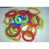 Wholesale Plastic spiral coil wrist band key ring chain keyring random color competitive China price from china suppliers