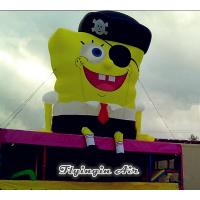 Wholesale Cute Pirate Captain Inflatable SpongeBob for Building and House Roof from china suppliers