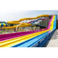 Wholesale Giant Interactive Racing Fiberglass Water Slides with Multi Lane , Customized from china suppliers