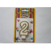 Wholesale OEM Fancy Number 2 Birthday Cake Candle / Anniversary Party Wax Candles from china suppliers