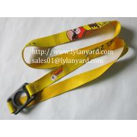 Wholesale Neoprene Polyester Custom Logo Heat Transfer Water Bottle Holder Lanyard from china suppliers