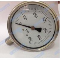 Wholesale 100mm Bottom with stainless steel connector oil filled pressure gauge  from china suppliers