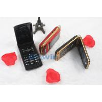 Black 2.4'' Flip Model Mobile Phones 950mAh MTK6260 8G With GPRS