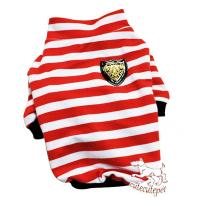 Wholesale Strip dog shirt, red and black colors, 5 sizes at choice from china suppliers